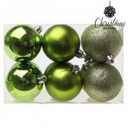 Karácsonyi gömb díszek - zöld - 6 cm - 12 db