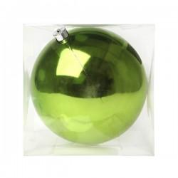 Karácsonyi gömb dísz - zöld - 20 cm - 1 db