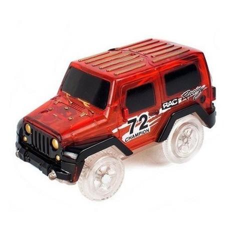 Autó világító autópályához - szélesség 6 cm - piros