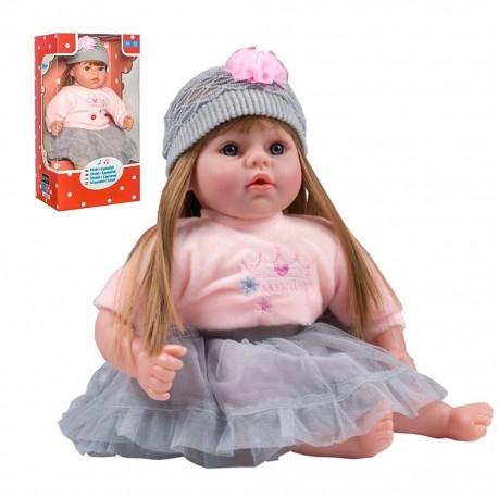Szlovákul beszélő és éneklő játékbaba Nina - 46 cm - PlayTo