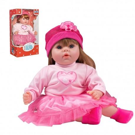 Csehül beszélő és éneklő játékbaba Tina - 46 cm - PlayTo