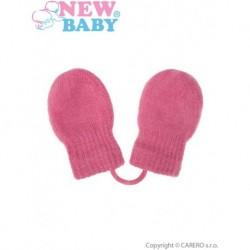 Gyerek téli kesztyű lányoknak - New Baby - rózsaszín