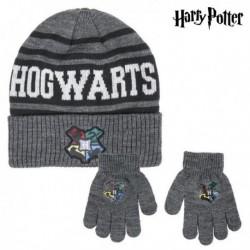 Sapka és kesztyű - Harry Potter - szürke