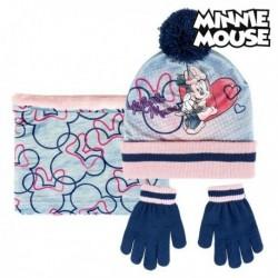 Sapka, kesztyű és sál - Minnie Mouse - szürke