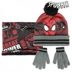 Sapka, kesztyű és sál - Spiderman - fekete