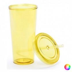 Műanyag pohár szívószállal - 144874 - 750 ml