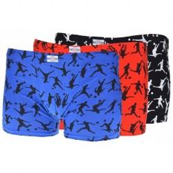 Fiú boxeralsók focistákkal - színes - 3 db-os szett - Elevek