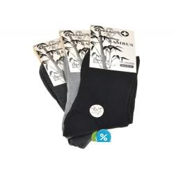 Pesail női bambusz egészségügyi klasszikus zokni ZW220B - 3 pár