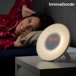 Digitális ébresztőóra napfelkelte szimulációval - LED FM USB - InnovaGoods