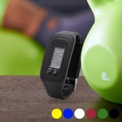 Sportkarkötő lépésszámlálóval és órával, LCD