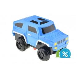 Új kisautó a világító autóverseny pályához - szélesség 6 cm - kék