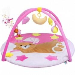 Játék takaró zenével - alvó medve - rózsaszín - PlayTo