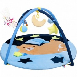 Játék takaró zenével - alvó medve - kék - PlayTo