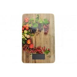 EH üveg digitális konyhai mérleg 5 kg-ig - 22 x 16 cm - gyümölcsök