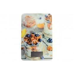 EH üveg digitális konyhai mérleg 5 kg-ig - 22 x 16 cm - müzli