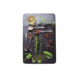 EH üveg digitális konyhai mérleg 5 kg-ig - 22 x 16 cm - fűszerek, motívum mix