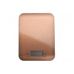 EH rozsdamentes digitális konyhai mérleg 5 kg-ig - 22 x 16 cm - réz színű