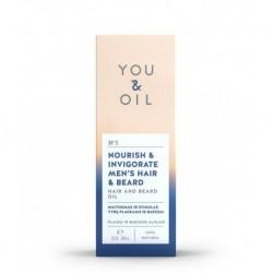 YOU & OIL férfi haj- és szakállerősítő olaj - 50 ml