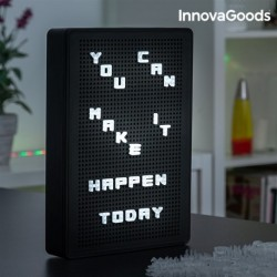 InnovaGoods lyukacsos tábla betűkre LED-del