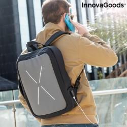 InnovaGoods Brifty lopásbiztos hátizsák beépített USB töltőporttal