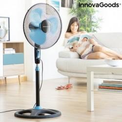 InnovaGoods álló ventilátor - 50 W - fekete-kék