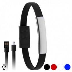 Karkötő töltő micro USB kábellel - kék