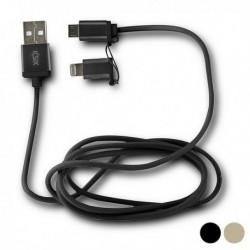KSIX micro USB töltőkábel Lightning adapterrel