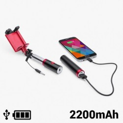 Selfie rúd powerbankkel - 2200 mAh - 145200