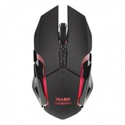 Mars Gaming gamer egér LED-del MMW - 3200 DPI - fekete
