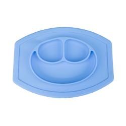 Szilikon alátét és tányér gyerekeknek - kék