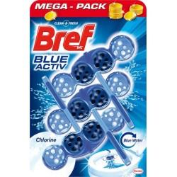 Bref Blue Aktiv WC illatosító golyók - Chlorine - 3 db