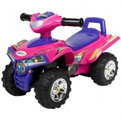 Bayo gyerek lábbal hajtós négykerekű hanggal - rózsaszín