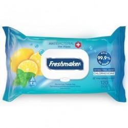 Freshmaker antibakteriális nedves törlőkendők - citrom - 120 db