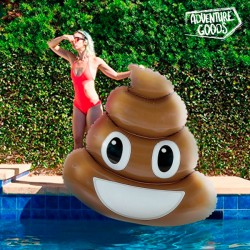 Adventure Goods felfújható matrac - Poo emoji