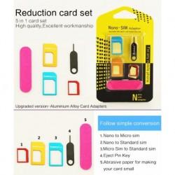 SIM kártya adapter készlet - 5 db
