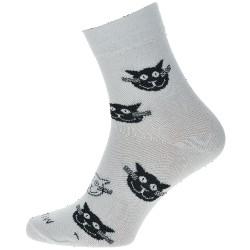 WiTSocks uniszex zokni - fehér macskák