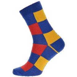 WiTSocks uniszex zokni - színes kockák