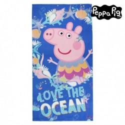 Mikroszálas strandlepedő - Peppa malac - kék