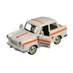 Trabant 601 retró autó lendkerékkel - mentőszolgálat - 18 cm
