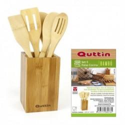 Quttin bambusz konyhai eszköz készlet - 5 db