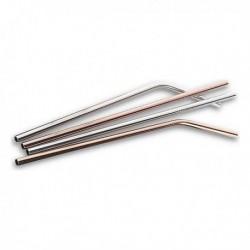 Quttin rozsdamentes acél szívószál - 4 db
