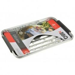 BBQ grillező alumínium tálcák - 34 x 23 x 2,5 cm - 4 db