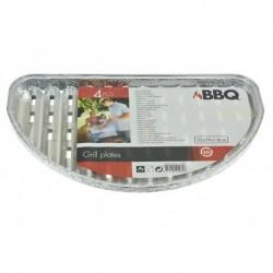 BBQ grillező alumínium tálcák - 32 x 16 x 1,5 cm - 4 db