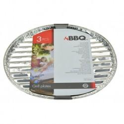 BBQ grillező alumínium tálcák - 35 cm - 3 db