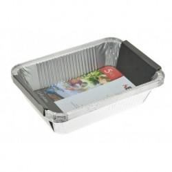 BBQ grillező alumínium tálcák - 22 x 15,5 x 4,5 cm - 5 db