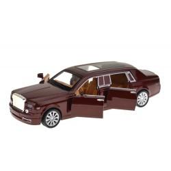 Rolls-Royce fém autó hanggal és fénnyel - 1:28 arány