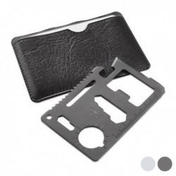 Gadget and Gifts többfunkciós kártya ezermestereknek 144208 - 8 az 1-ben - ezüst