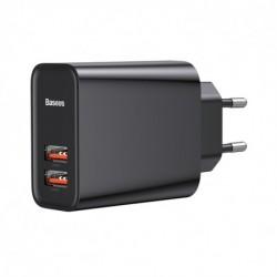 Baseus CCFS-E01 töltő - USB PD 3.0 + USB QC 3.0 - 30 W - fekete