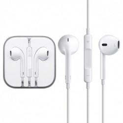 Fülhallgató mikrofonnal és vezőrlőpanellel - fehér