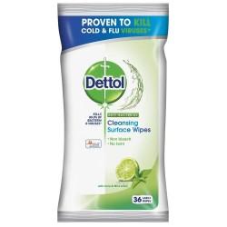 Dettol antibakteriális törlőkendők felületekre - lime és menta - 36 db